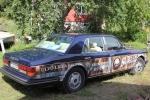 Ägaren till Ulvö Lilla Salteri har en lite annorlunda bil - en Rolls-Royce med reklam...