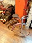 En gammal trehjuling