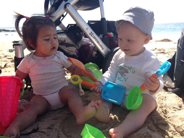 Filippa och Jack i Laguna Beach
