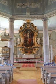 Koret inne i kyrkan
